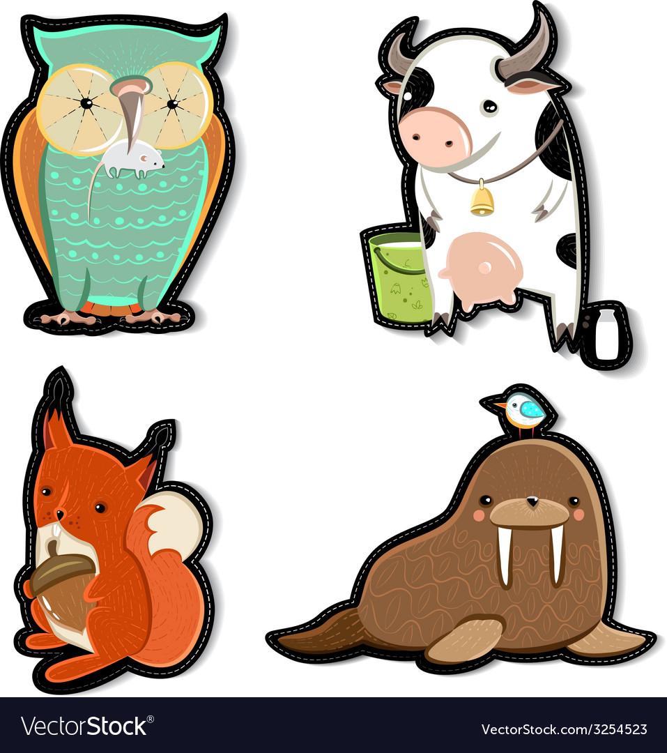 Kids animals vector | Price: 1 Credit (USD $1)
