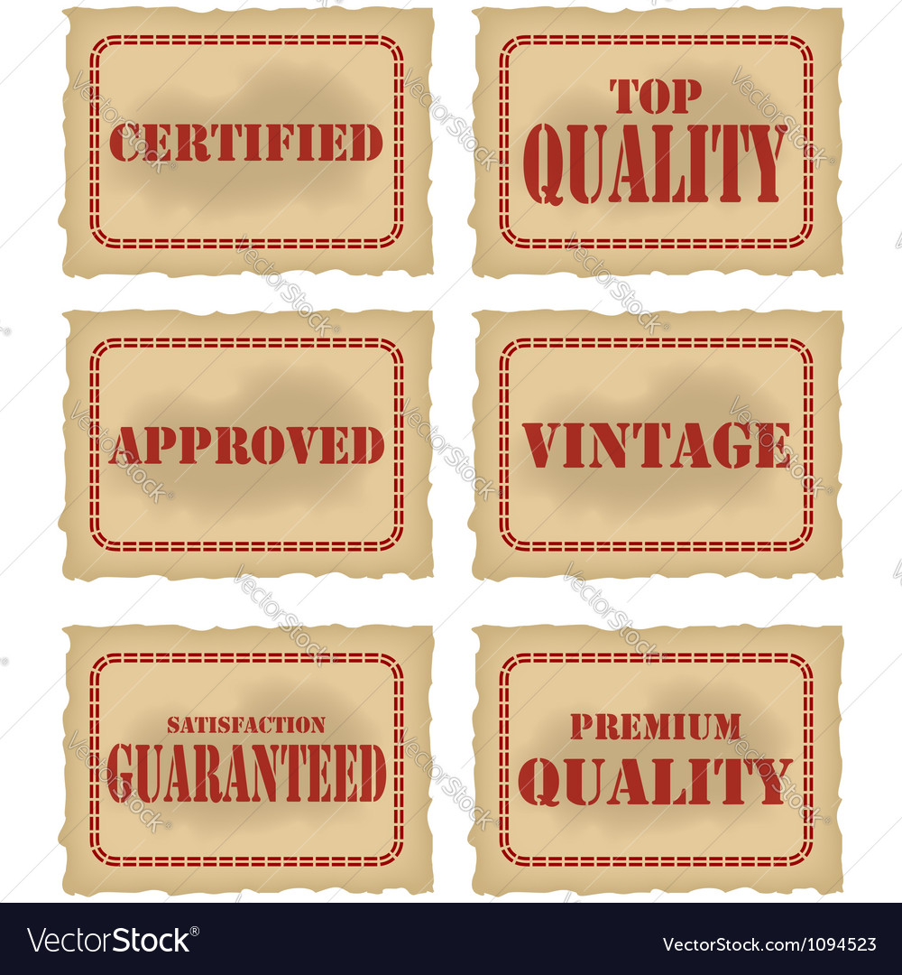 Quality seals vector | Price: 1 Credit (USD $1)