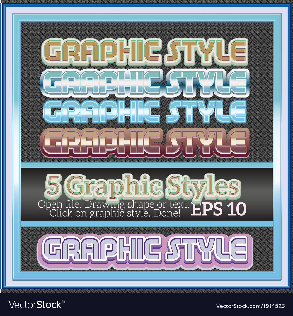 Set of decorative graphic styles for various vector | Price: 1 Credit (USD $1)