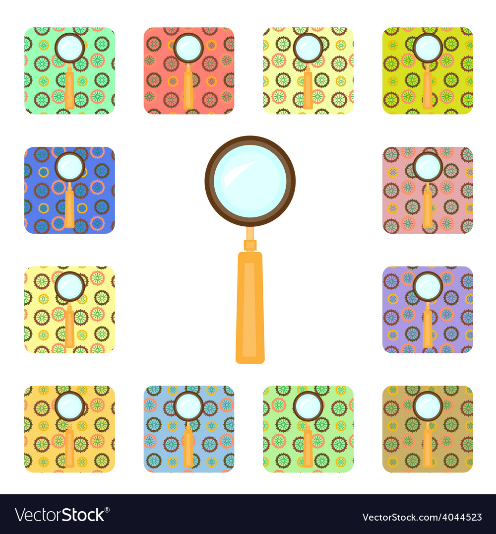 Set of magnifier icons vector   Price: 1 Credit (USD $1)