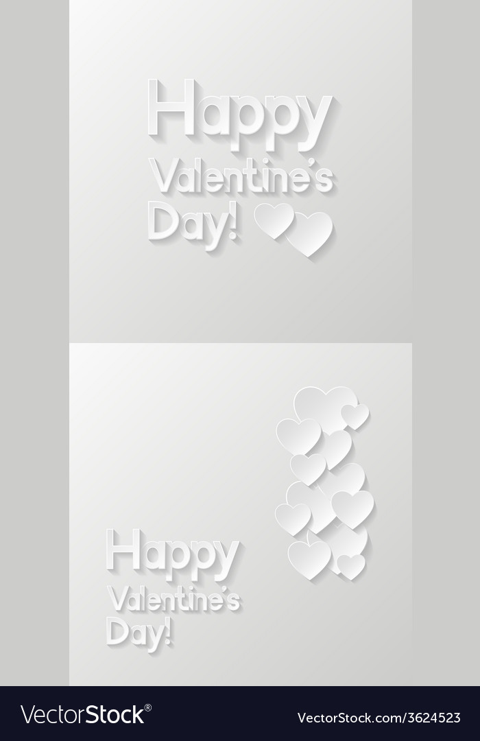 Valentines day greeting cards vector | Price: 1 Credit (USD $1)