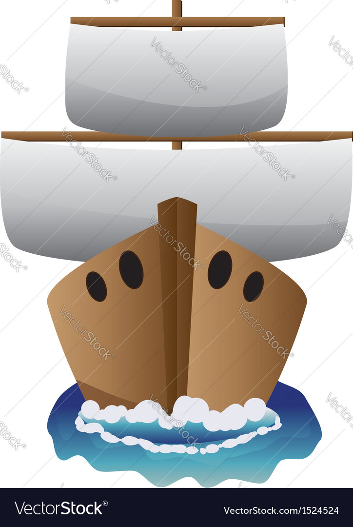 Abstract cartoon boat vector | Price: 1 Credit (USD $1)