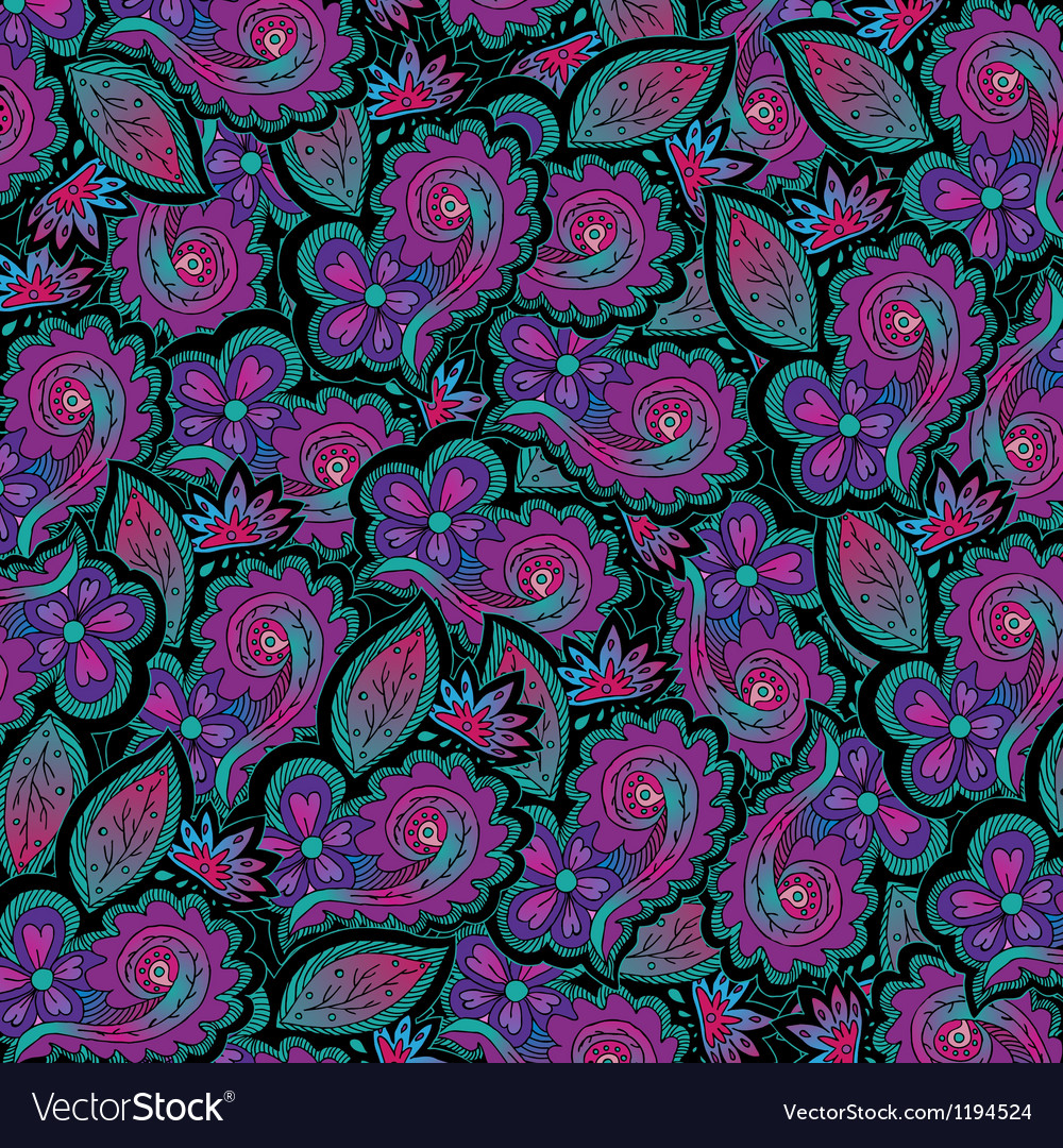 Abstract floral on black backround vector | Price: 1 Credit (USD $1)