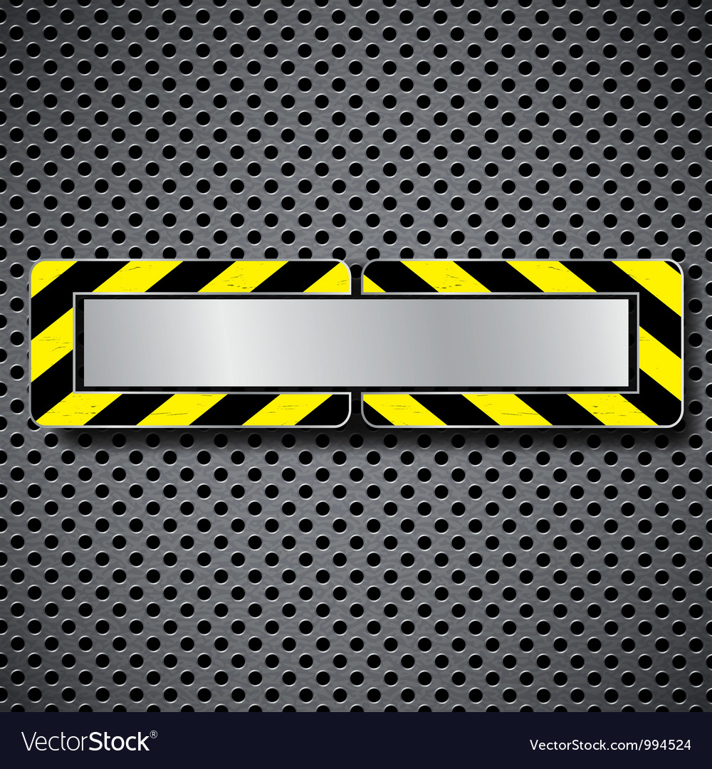 Abstract metal background with warning stripe vector | Price: 1 Credit (USD $1)