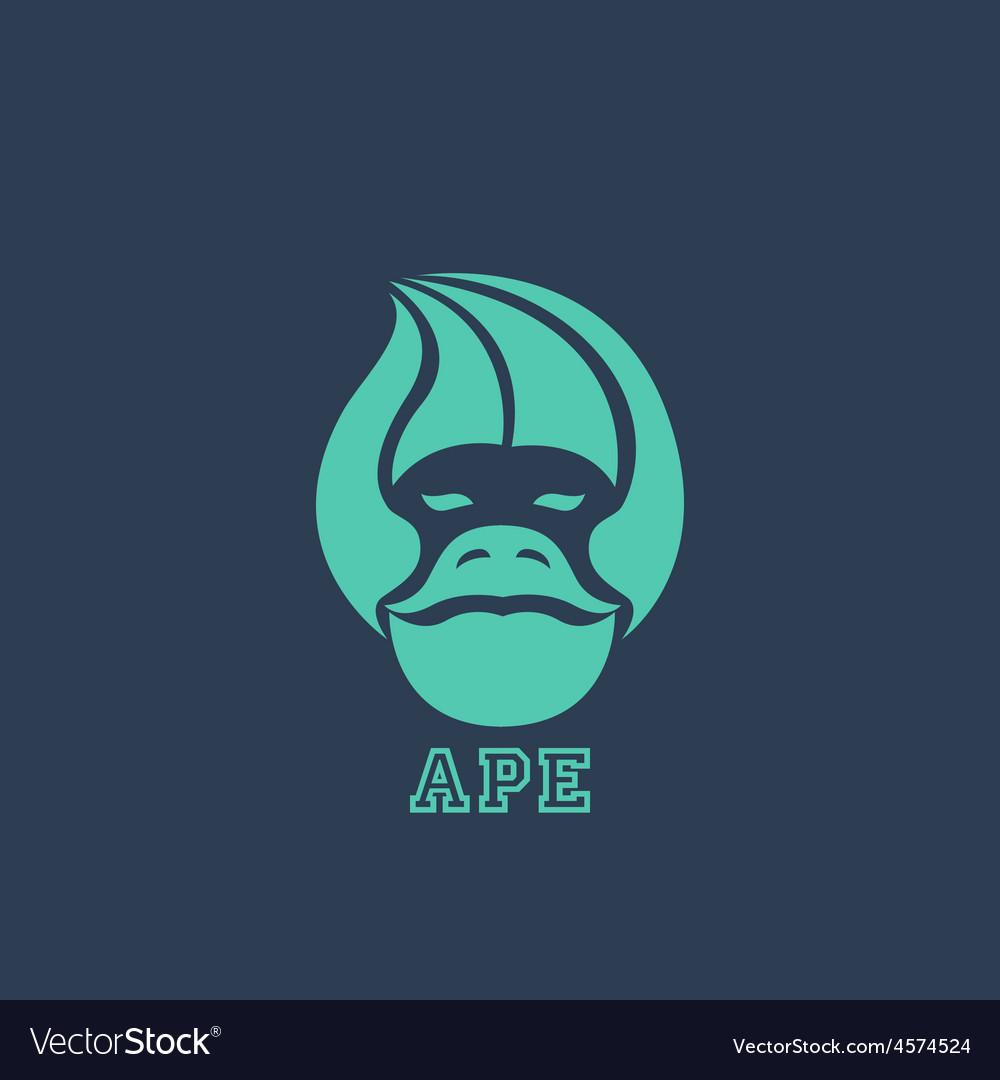 Ape logo vector | Price: 1 Credit (USD $1)