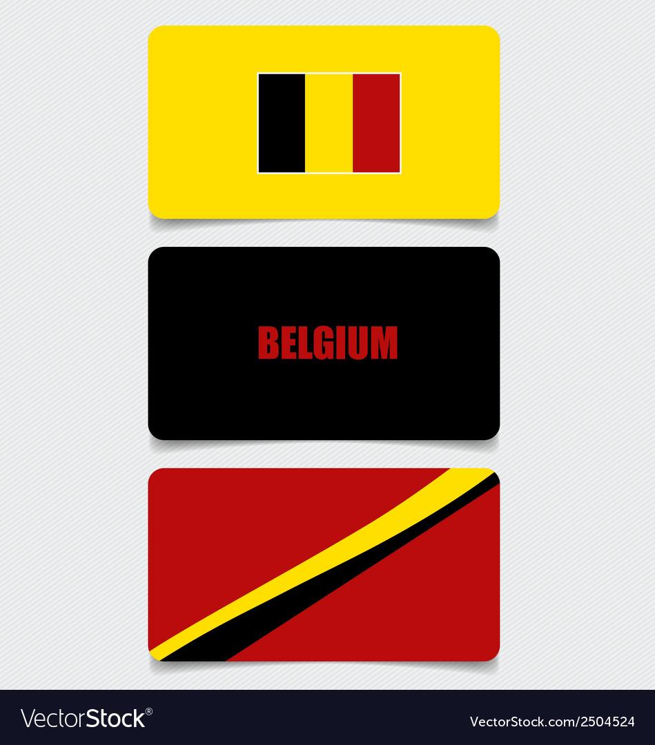 Belgium flags concept design vector | Price: 1 Credit (USD $1)