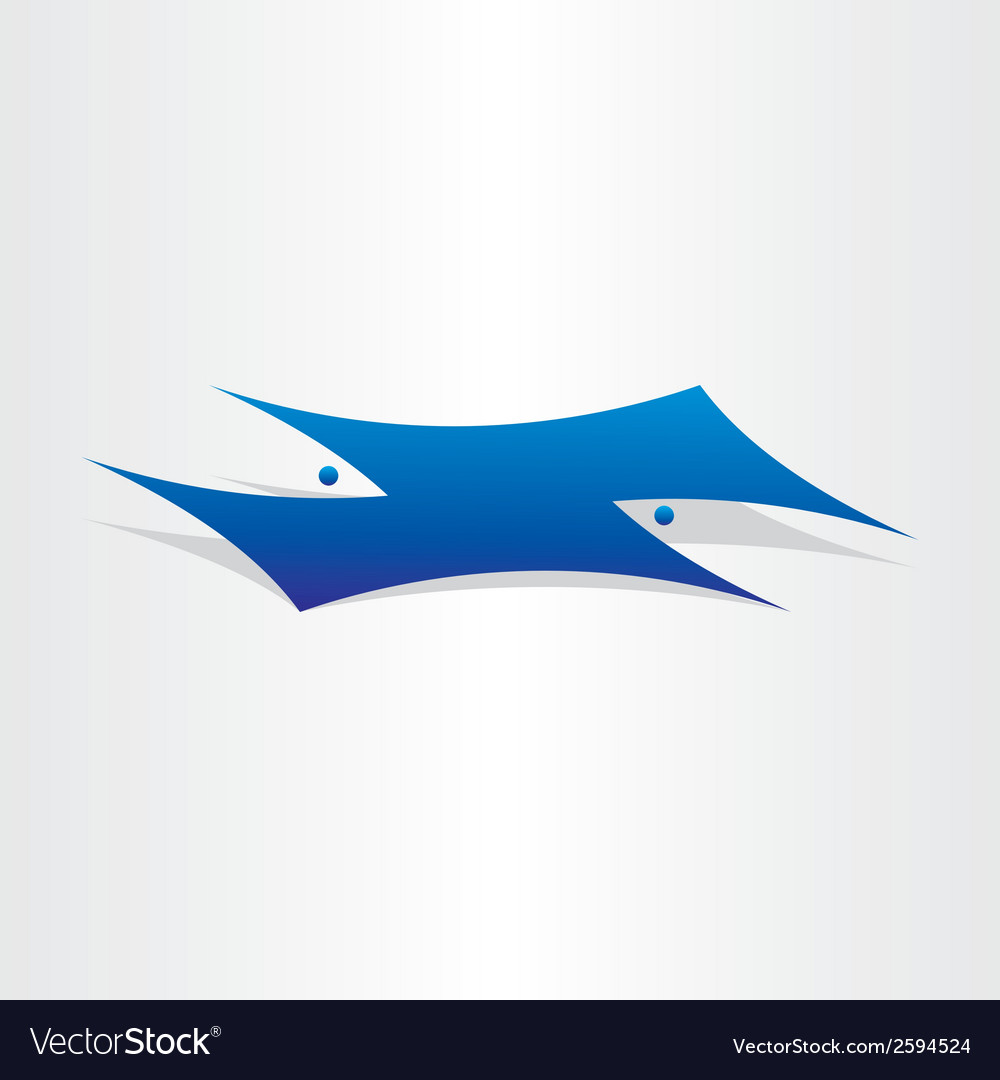 Fish swimming under water vector | Price: 1 Credit (USD $1)