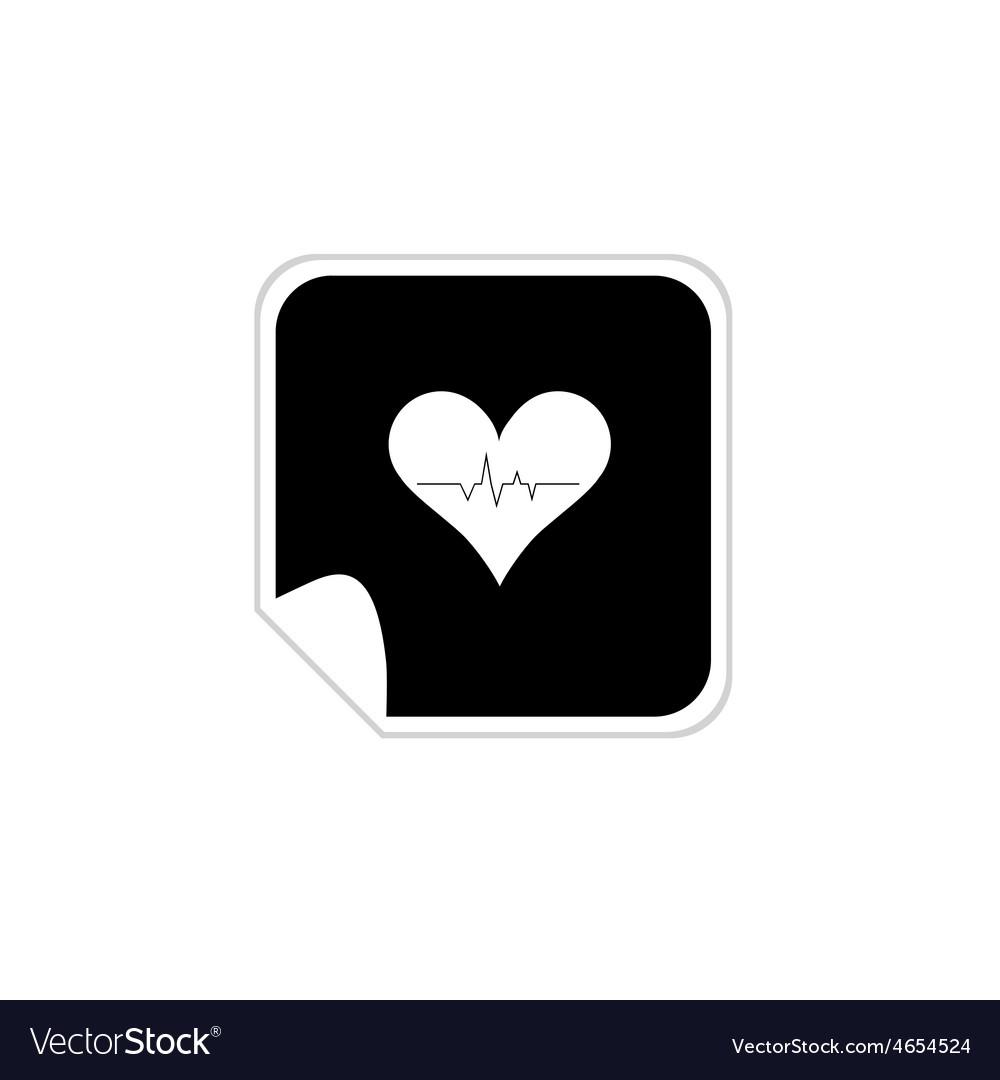 Heartbeat sticker vector | Price: 1 Credit (USD $1)