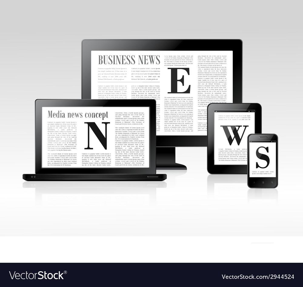 Media news concept vector | Price: 1 Credit (USD $1)