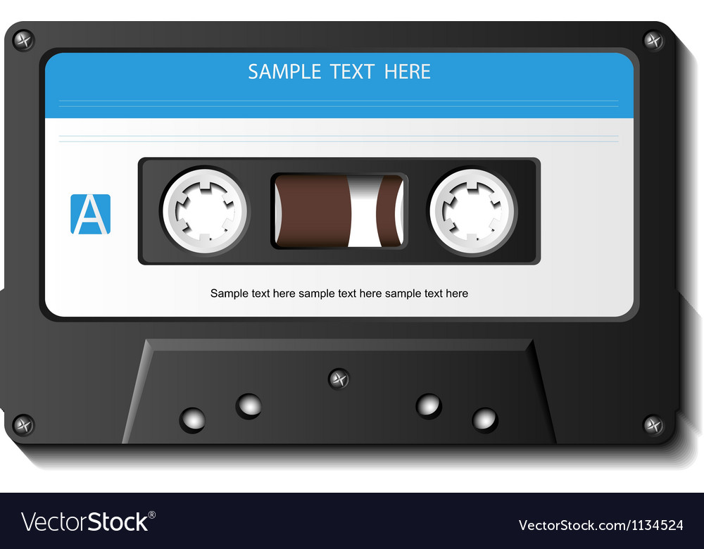 Realistic cassette tape vector | Price: 3 Credit (USD $3)