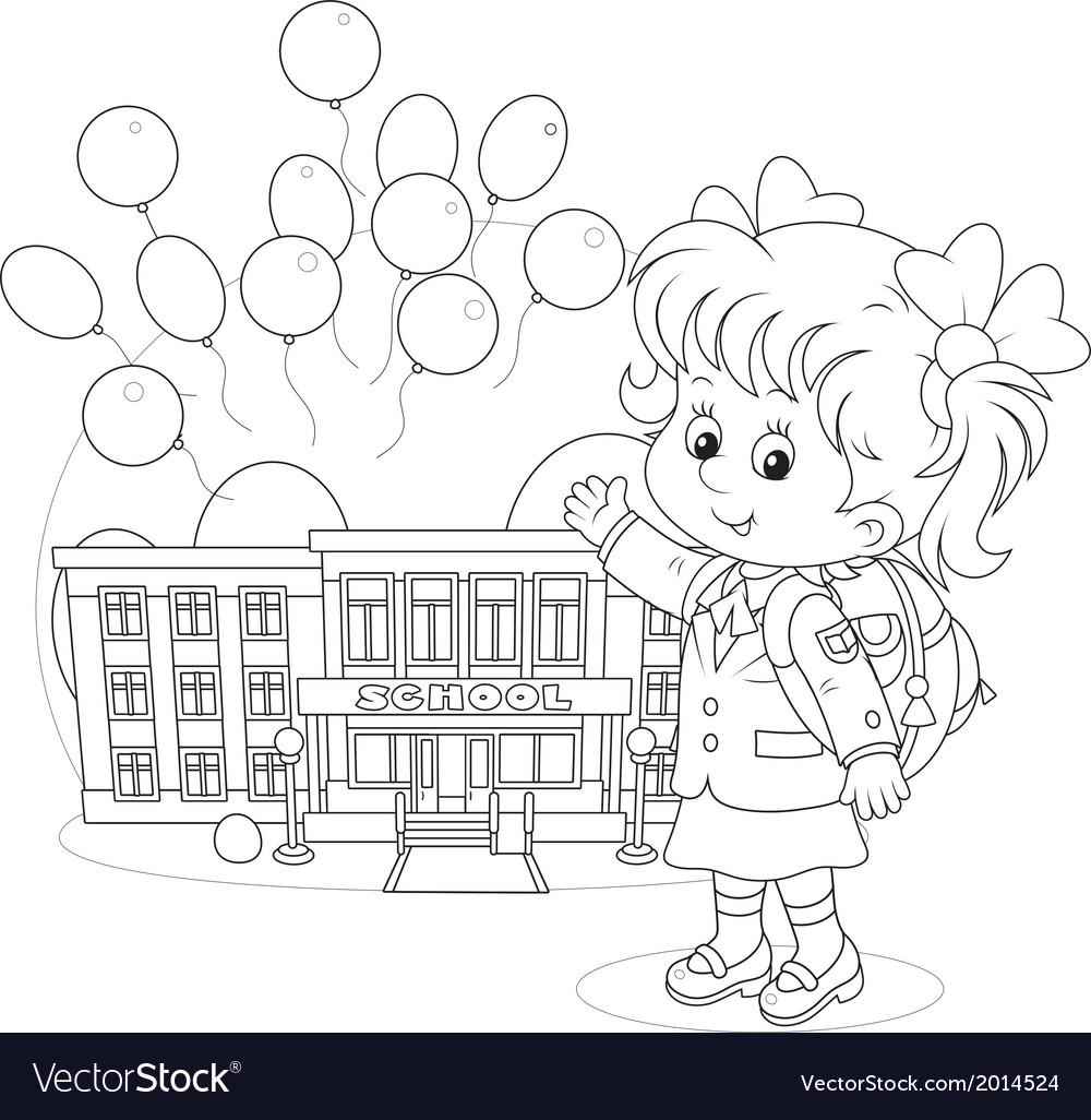 Schoolgirl vector   Price: 1 Credit (USD $1)