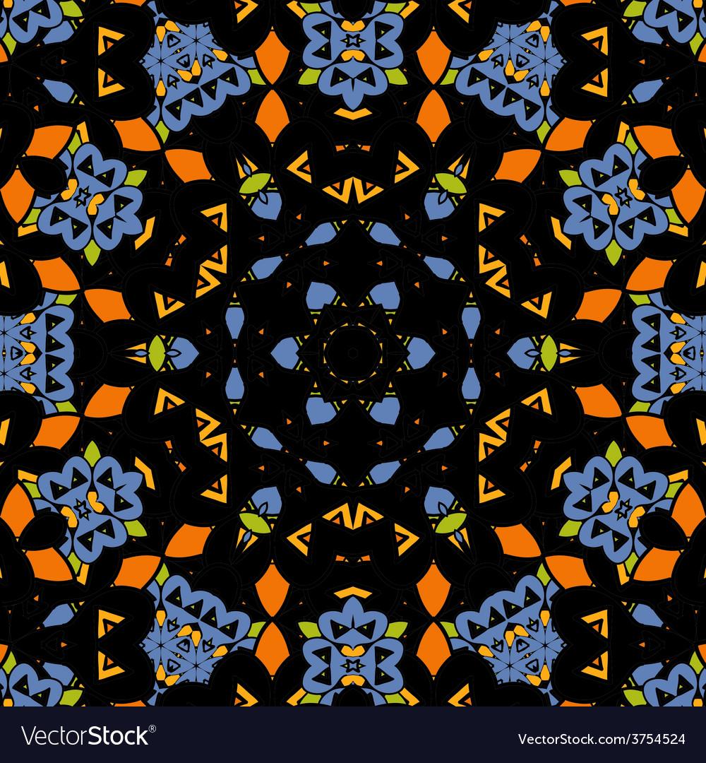 Seamless pattern oriental mandala endless vector | Price: 1 Credit (USD $1)