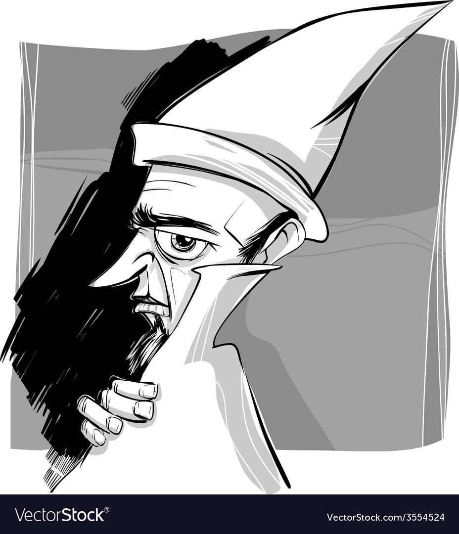 Wizard sketch drawing vector | Price: 1 Credit (USD $1)