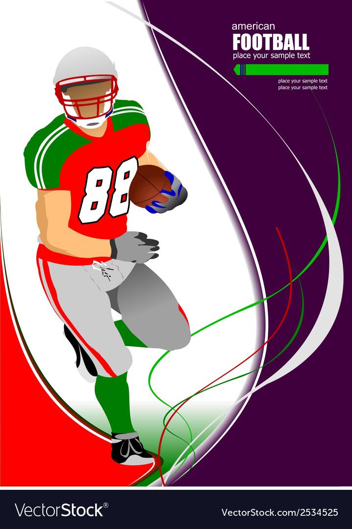 Al 0925 american football 02 vector | Price: 1 Credit (USD $1)