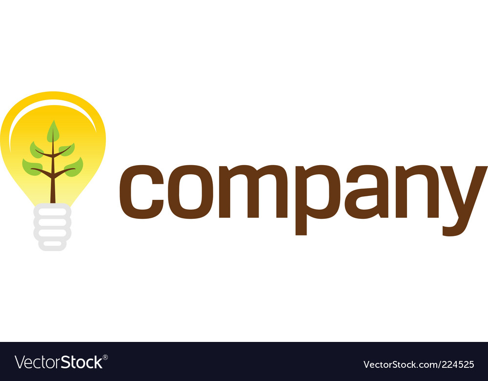 Bulb company logo with plant vector | Price: 1 Credit (USD $1)