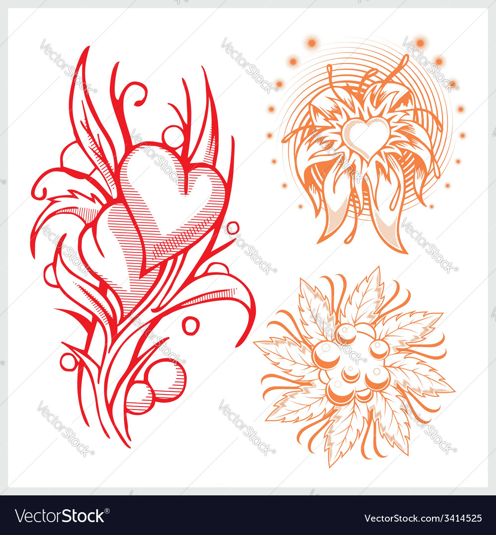 Flower design for tattoo vector | Price: 1 Credit (USD $1)