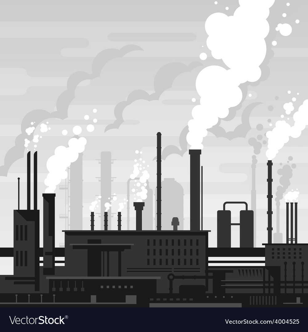 Industrial plant landscape vector | Price: 1 Credit (USD $1)