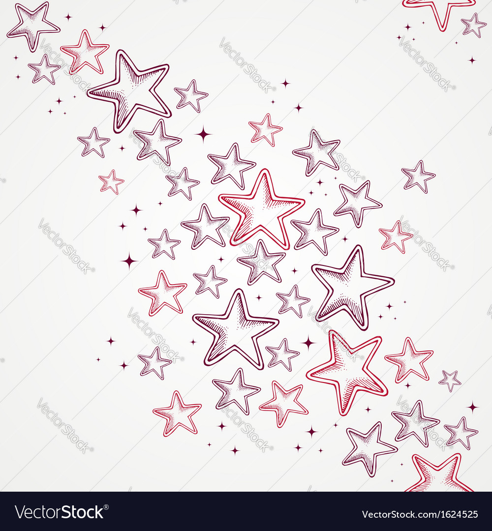 Merry christmas star shapes seamless pattern vector | Price: 1 Credit (USD $1)