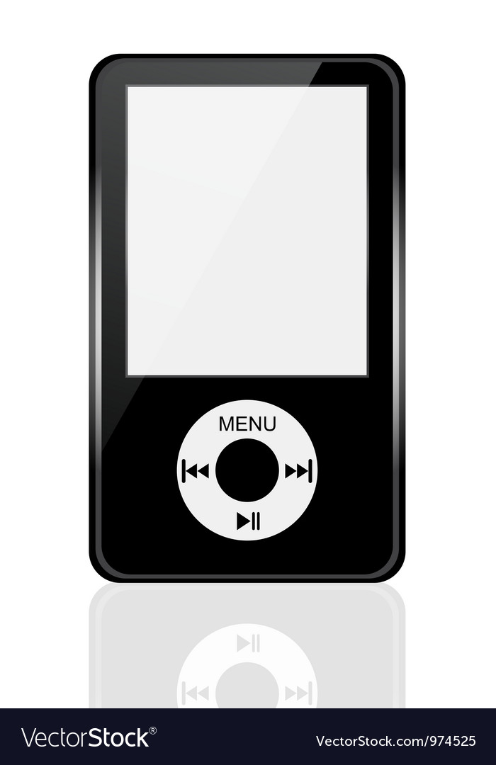 Mp3 player vector | Price: 1 Credit (USD $1)