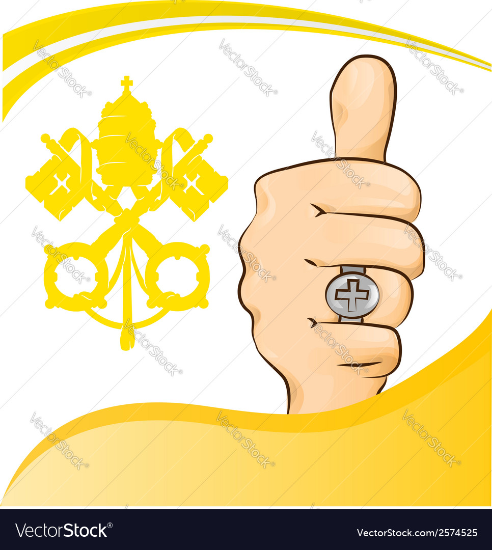 Pope thumb-up symbol vector | Price: 1 Credit (USD $1)