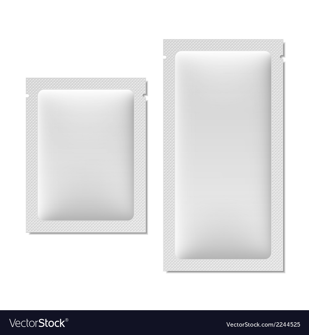 White blank sachet packaging vector | Price: 1 Credit (USD $1)