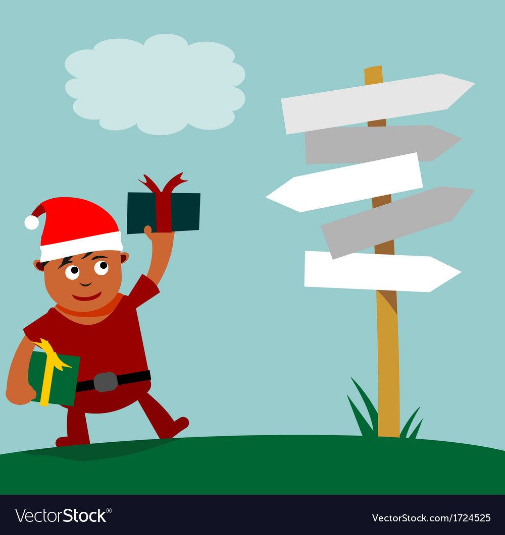 Young santa claus choice of direction vector | Price: 1 Credit (USD $1)