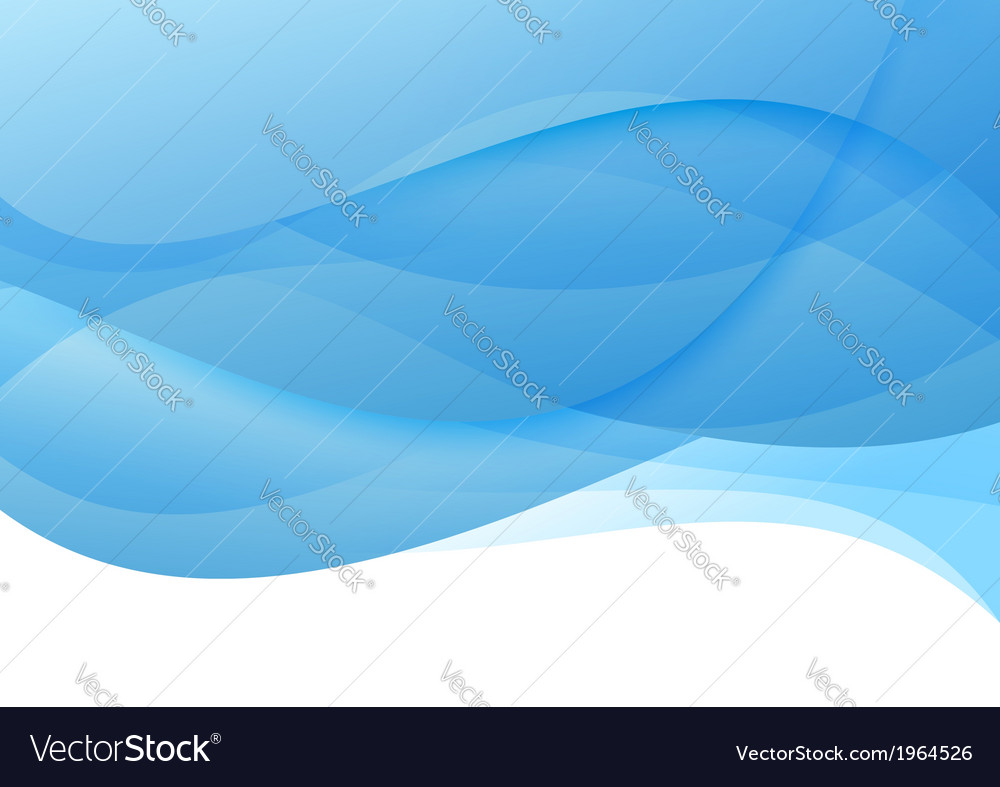 Abstract blue waves - modern background vector | Price: 1 Credit (USD $1)