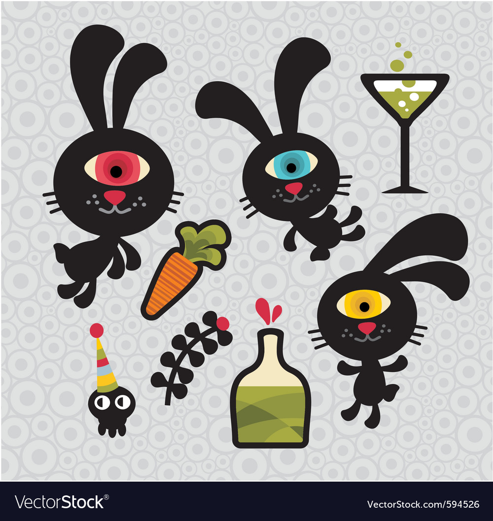 Bunny cartoons vector | Price: 1 Credit (USD $1)