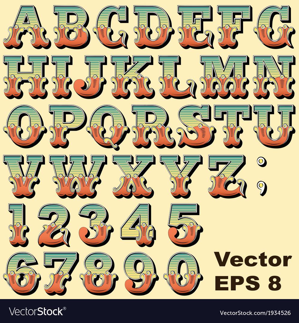 Carnival circus funfair letters vector | Price: 1 Credit (USD $1)