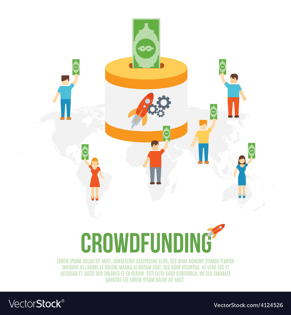 Crowdfunding business concept vector | Price: 1 Credit (USD $1)