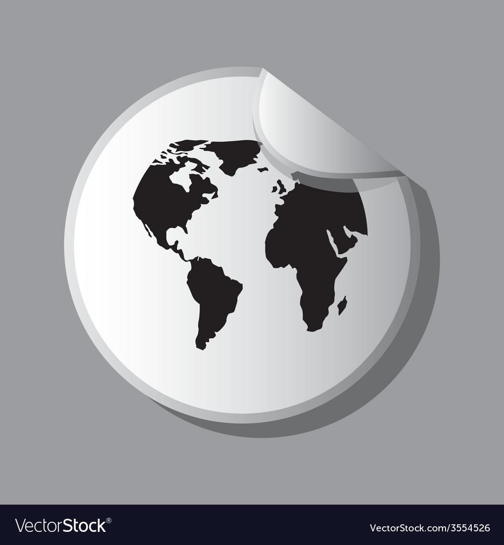 Eco sticker design vector | Price: 1 Credit (USD $1)