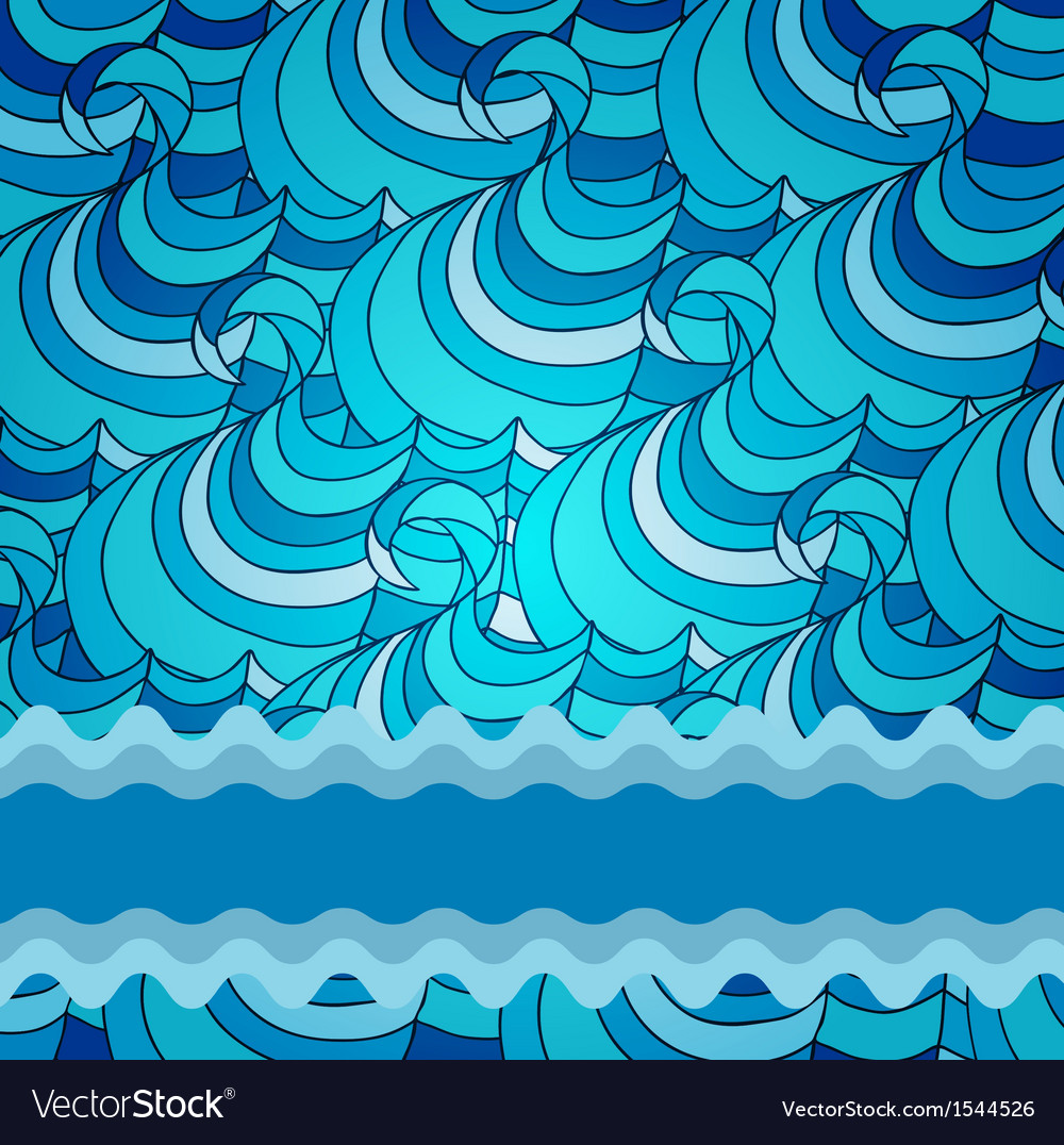 Eps 10 colorful background with sea waves vector | Price: 1 Credit (USD $1)