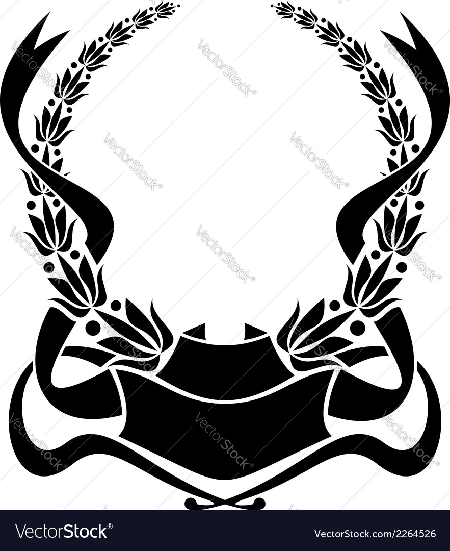 Heraldic laurel wreath vector | Price: 1 Credit (USD $1)