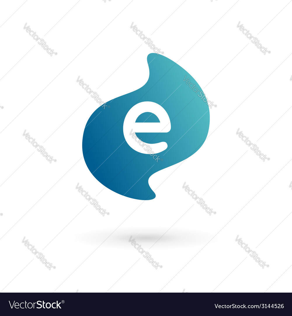 Letter e logo icon vector | Price: 1 Credit (USD $1)