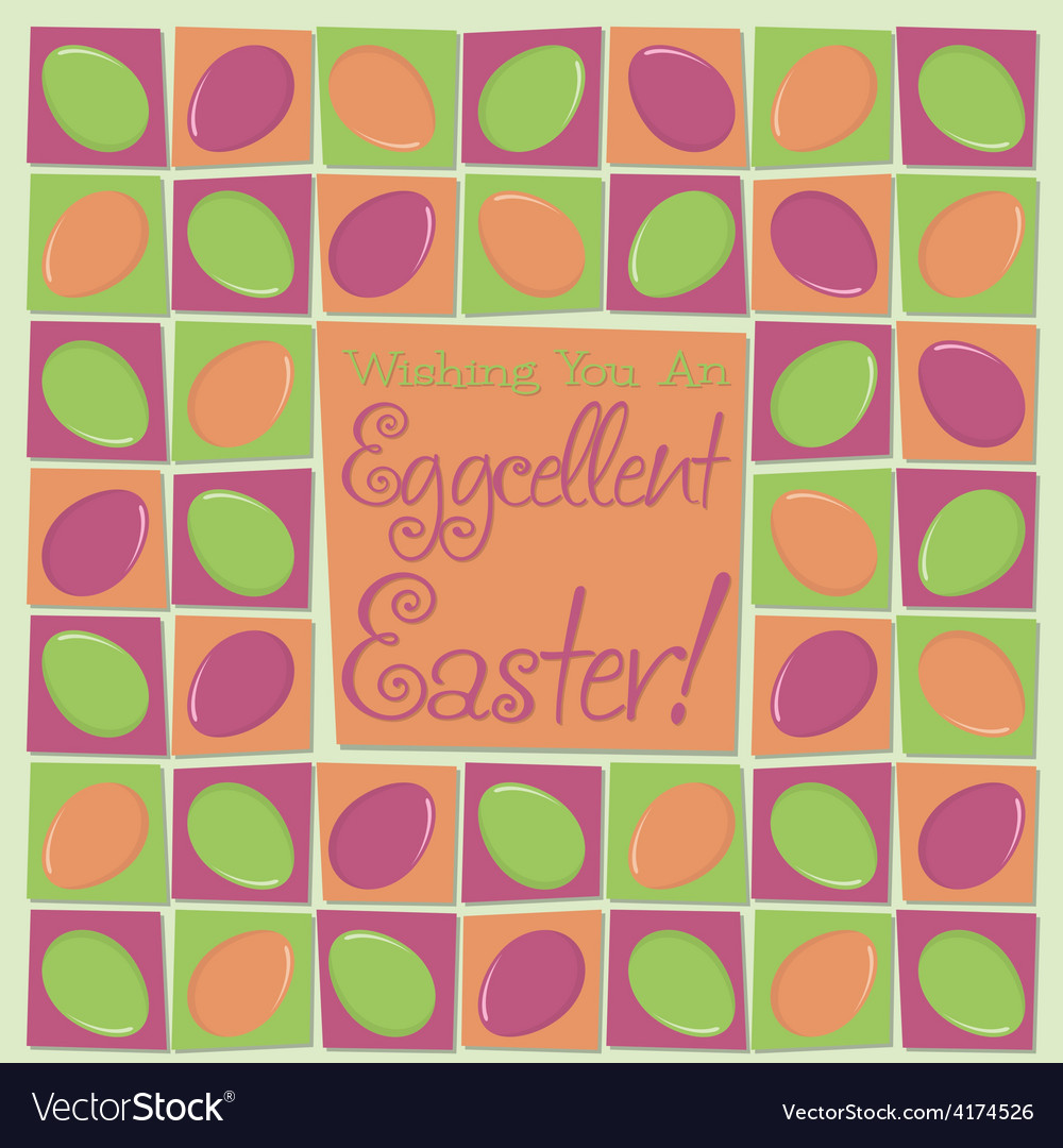Mosaic funky easter card in format vector | Price: 1 Credit (USD $1)