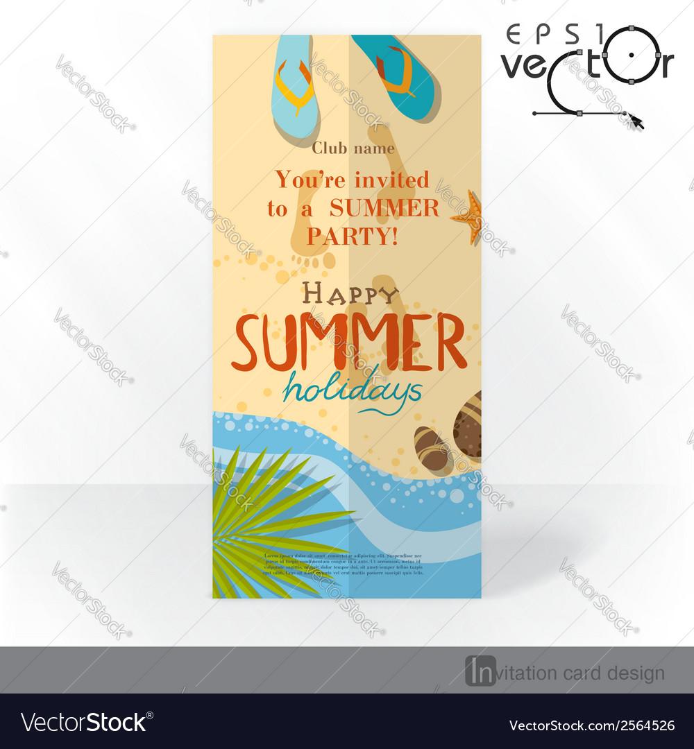 Party invitation card design template vector   Price: 1 Credit (USD $1)