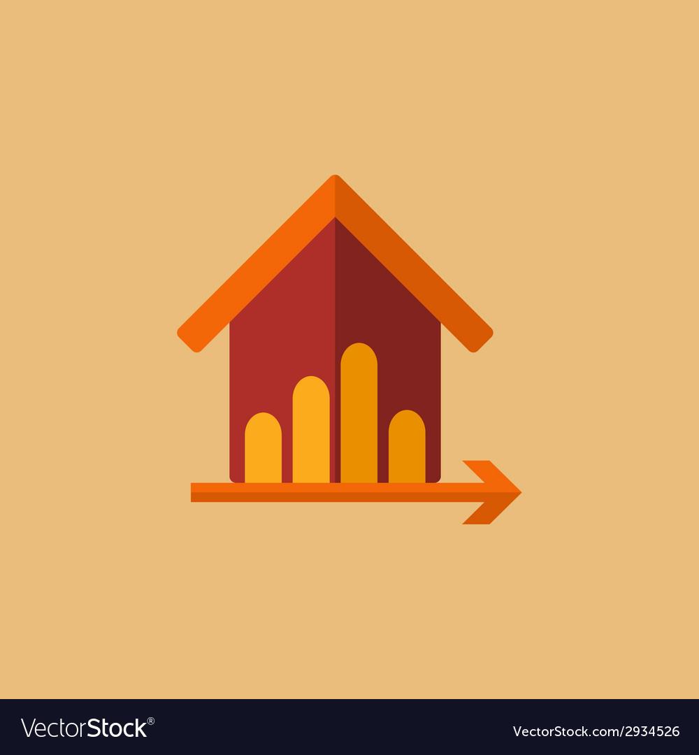 Real estate icon vector | Price: 3 Credit (USD $3)