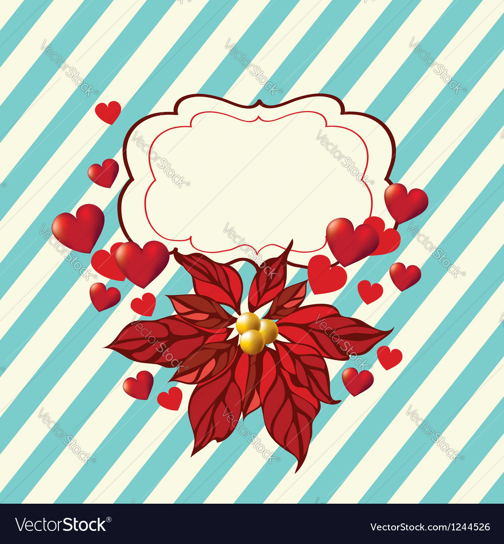 Romantic background with red flowers vector | Price: 1 Credit (USD $1)