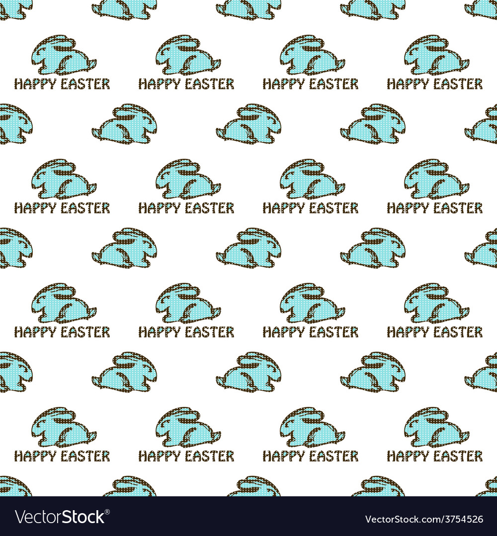 Seamless pattern with easter rabbit vector | Price: 1 Credit (USD $1)