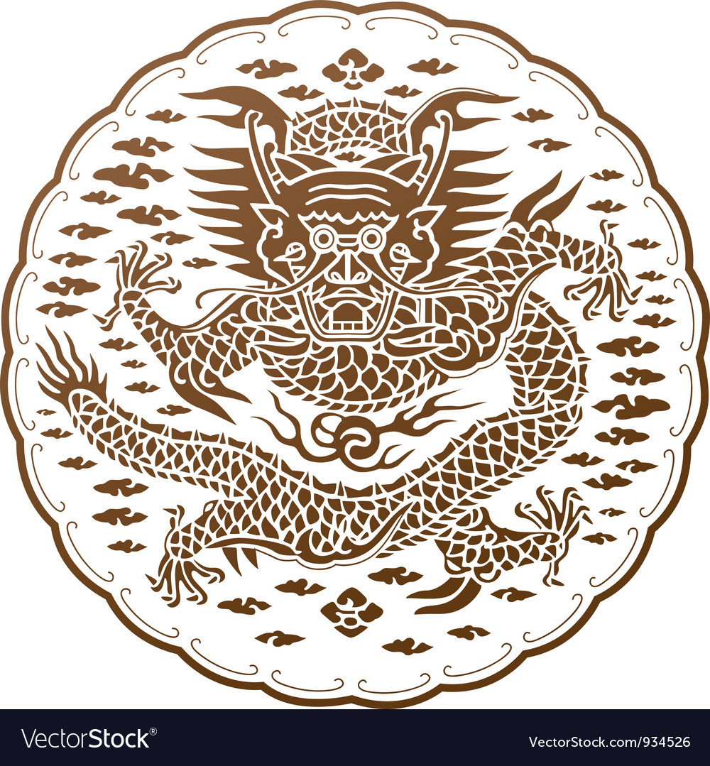 The spiritual dragon of chinese myth vector