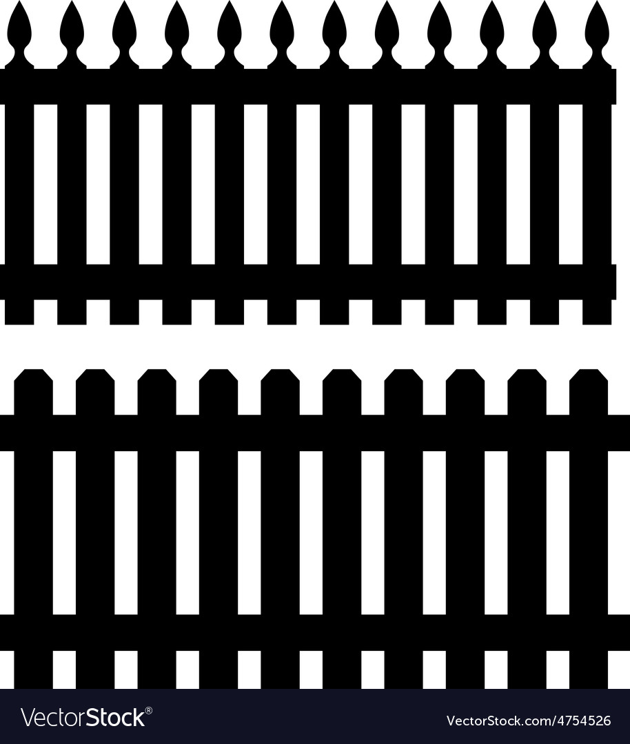 Two black fences vector | Price: 1 Credit (USD $1)