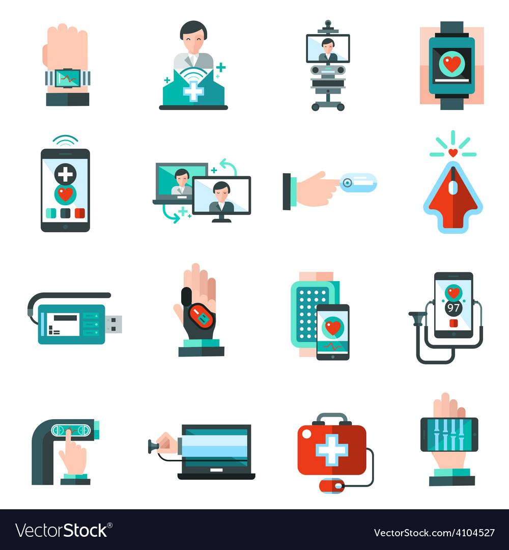Digital medicine icons vector | Price: 1 Credit (USD $1)
