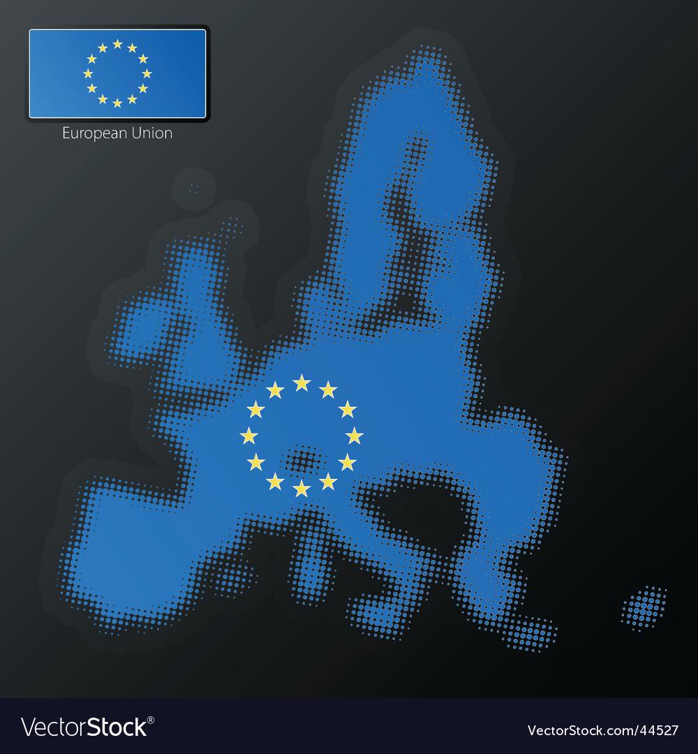 European union halftone vector | Price: 1 Credit (USD $1)