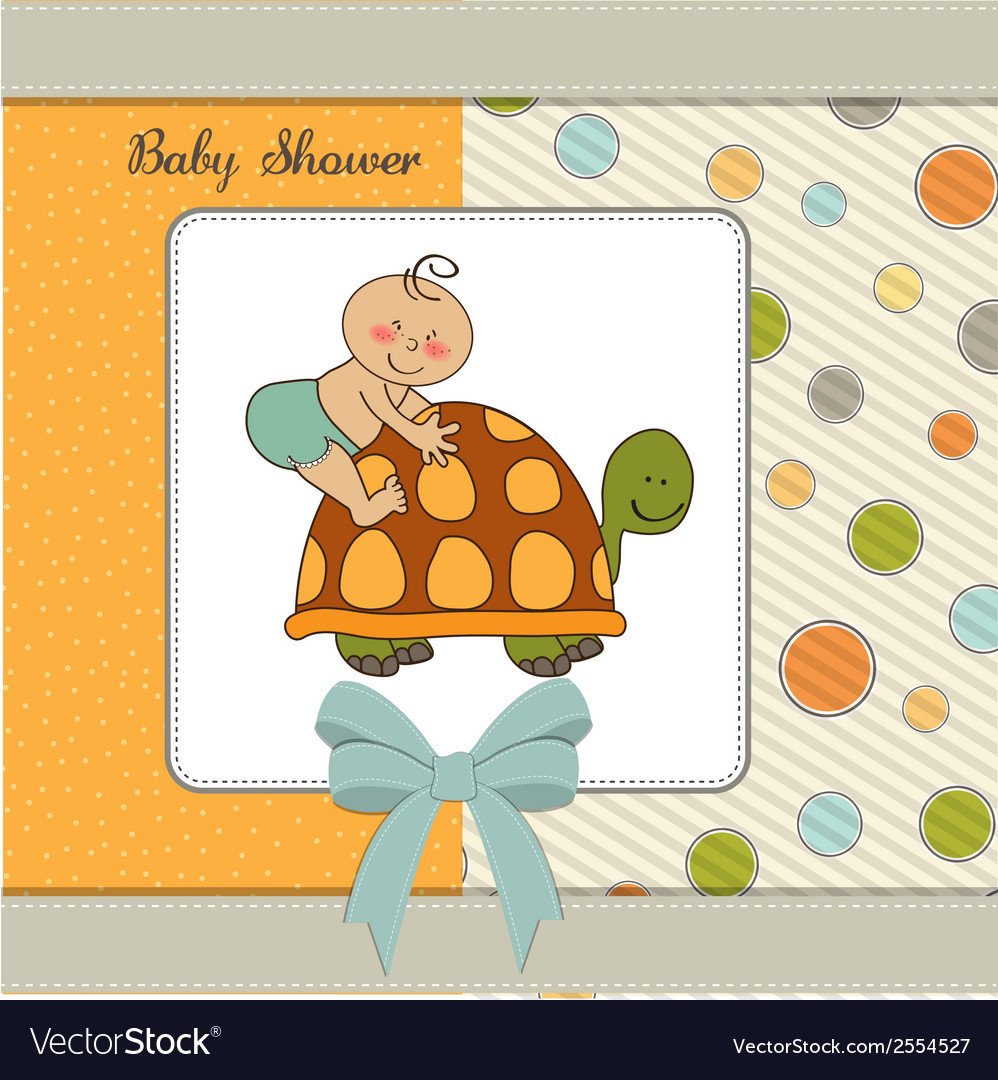 Funny baby boy announcement card vector | Price: 1 Credit (USD $1)