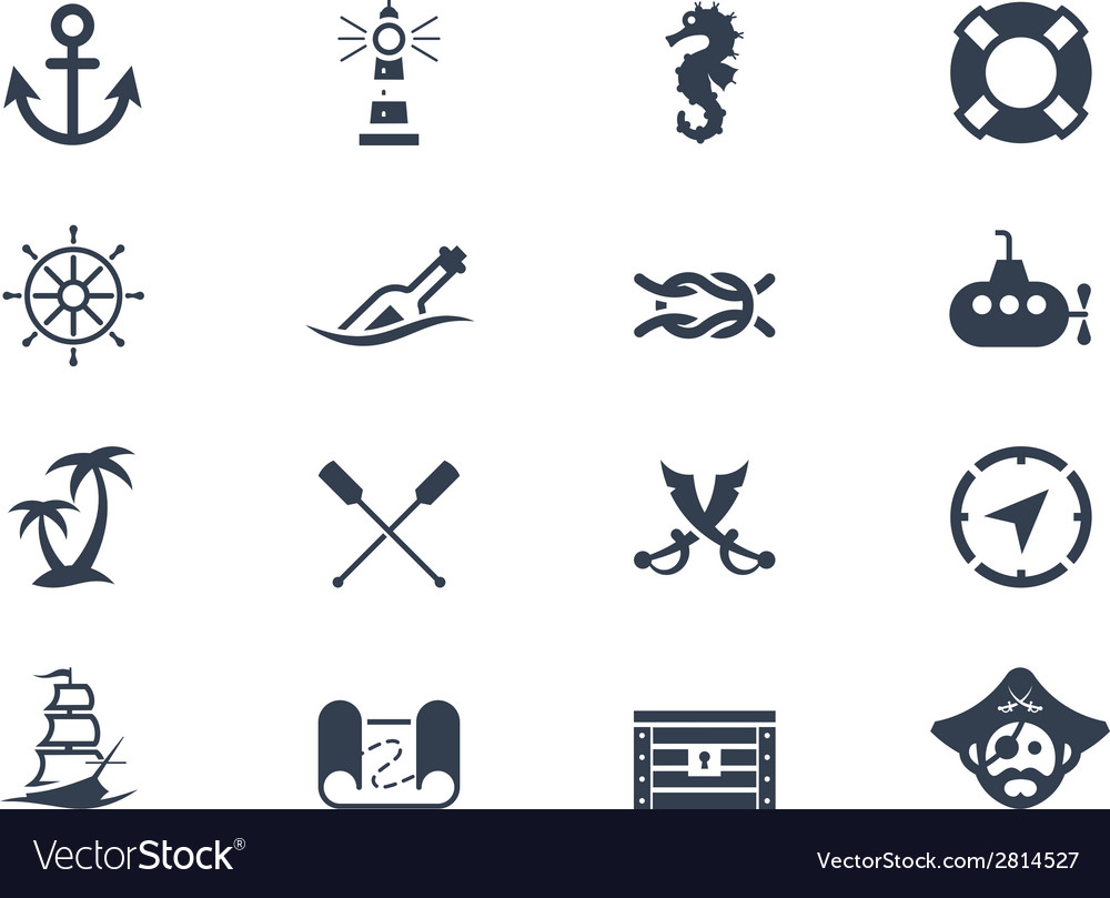 Marine and nautical icons vector | Price: 1 Credit (USD $1)