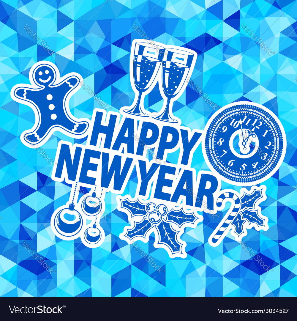 New year mosaic pattern vector | Price: 1 Credit (USD $1)
