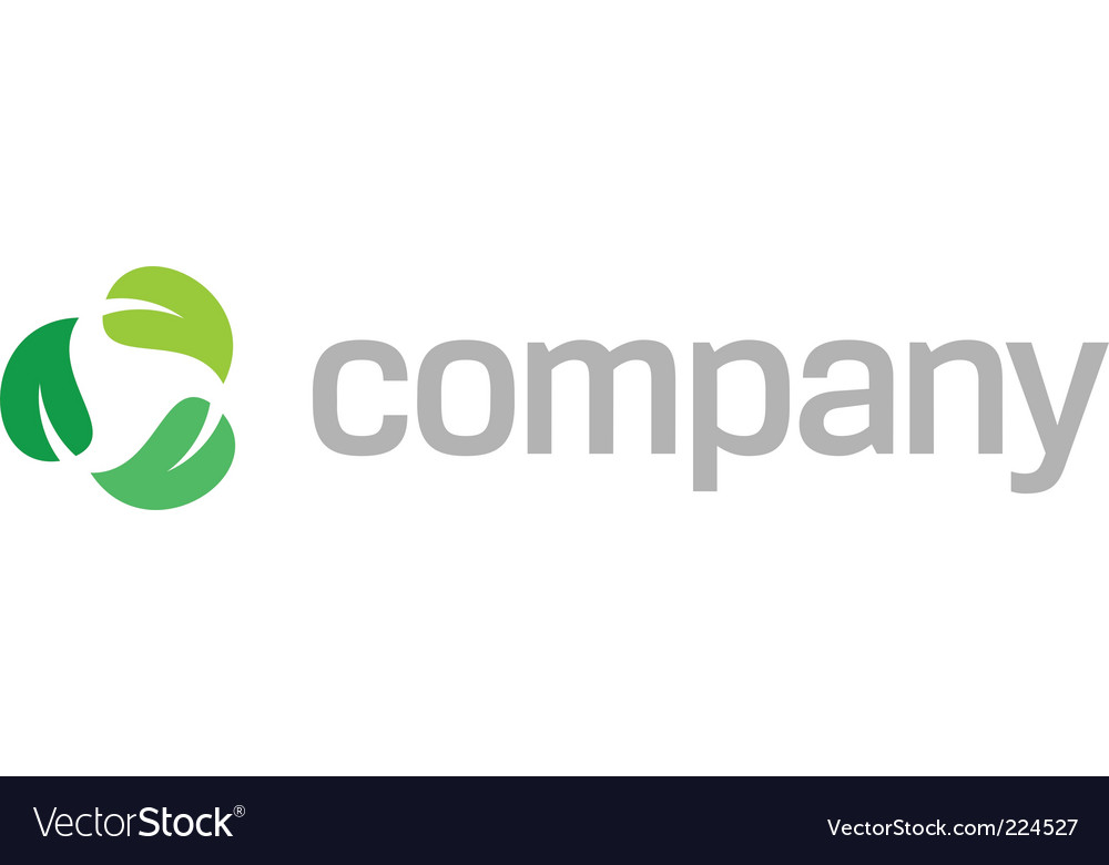 Recycle leaves logo vector | Price: 1 Credit (USD $1)