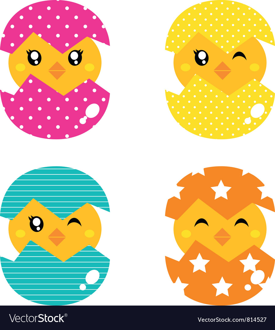 Retro happy chicken vector | Price: 1 Credit (USD $1)