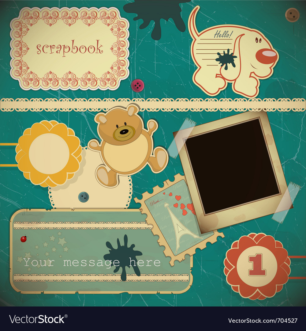 Scrapbook vintage vector | Price: 1 Credit (USD $1)