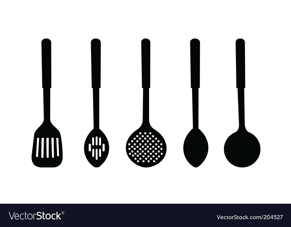Silhouette of kitchen ware vector | Price: 1 Credit (USD $1)